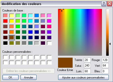 comment faire la couleur marron